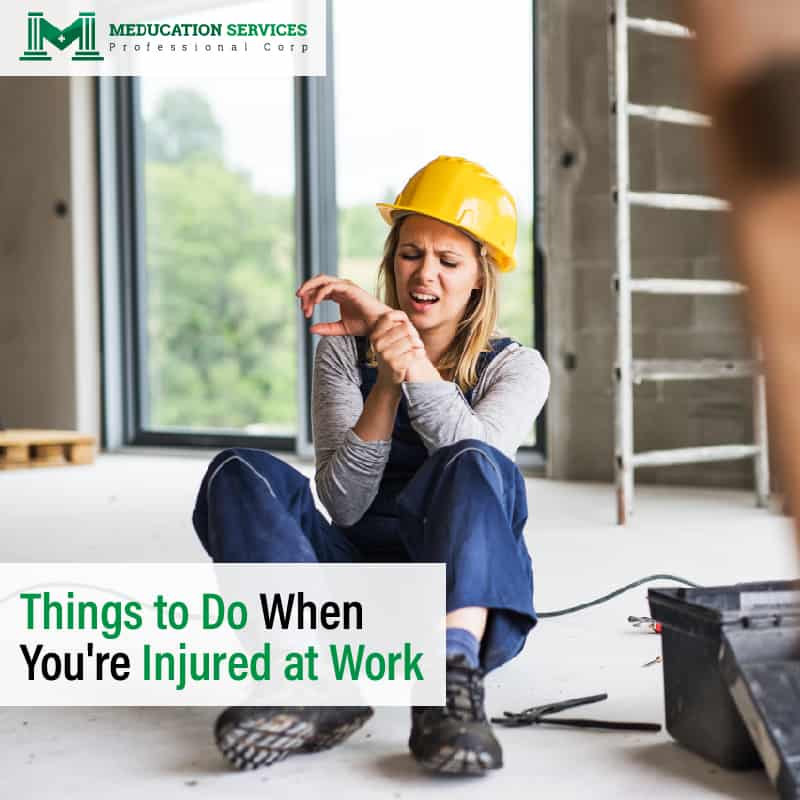 Things to Do When You're Injured At Work