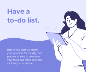 Have a To-do List