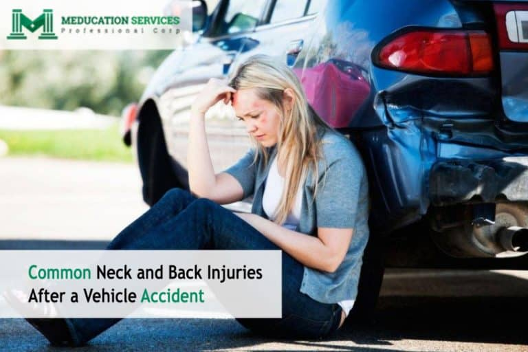 Common Neck and Back Injuries After a Vehicle Accident